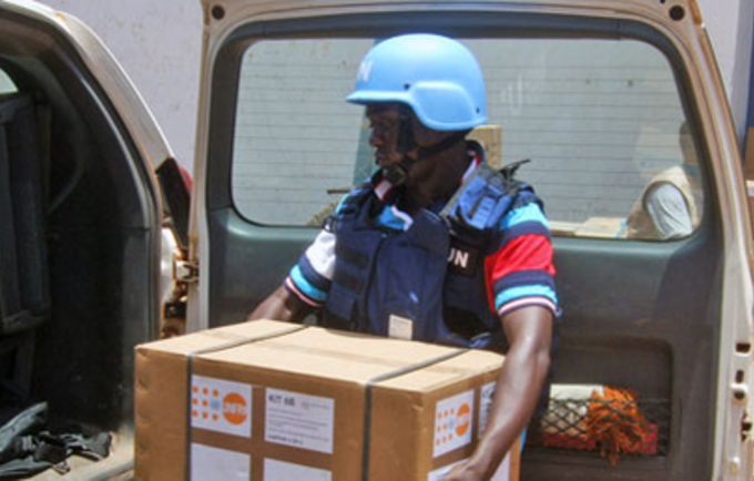 Heads of maternity services pledged to put to good use the lifesaving supplies sent to the Central African Republic in the wake of fierce fighting and displacements. Photo © UNFPA/CAR